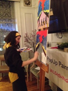 Lisa O'Donnell from the PopUp Painting Team