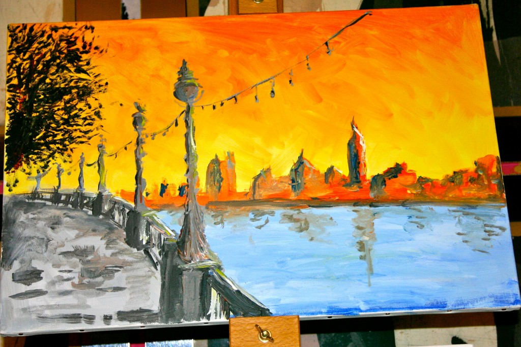 Paint London! Brasserie Blanc, Southbank, 17 October - PopUp Painting