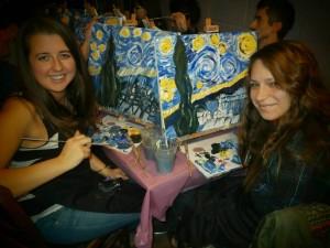 Paint Starry Night at Troyganic, April 2014