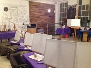 We provide all the kit at PopUp Painting events!