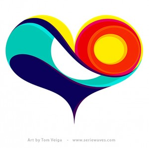 Colorful Heart by Tom Veiga