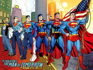 The Evolution of The Man of Tomorrow (Superman) by Brian Stelfreeze