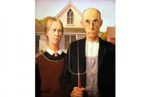 American Gothic Painter- Grant Wood  Year- 1930