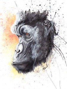 Gorilla by Annie Dalton - you can see her paint this Gorilla here - https://www.youtube.com/watch?v=HXK9K1w63zI