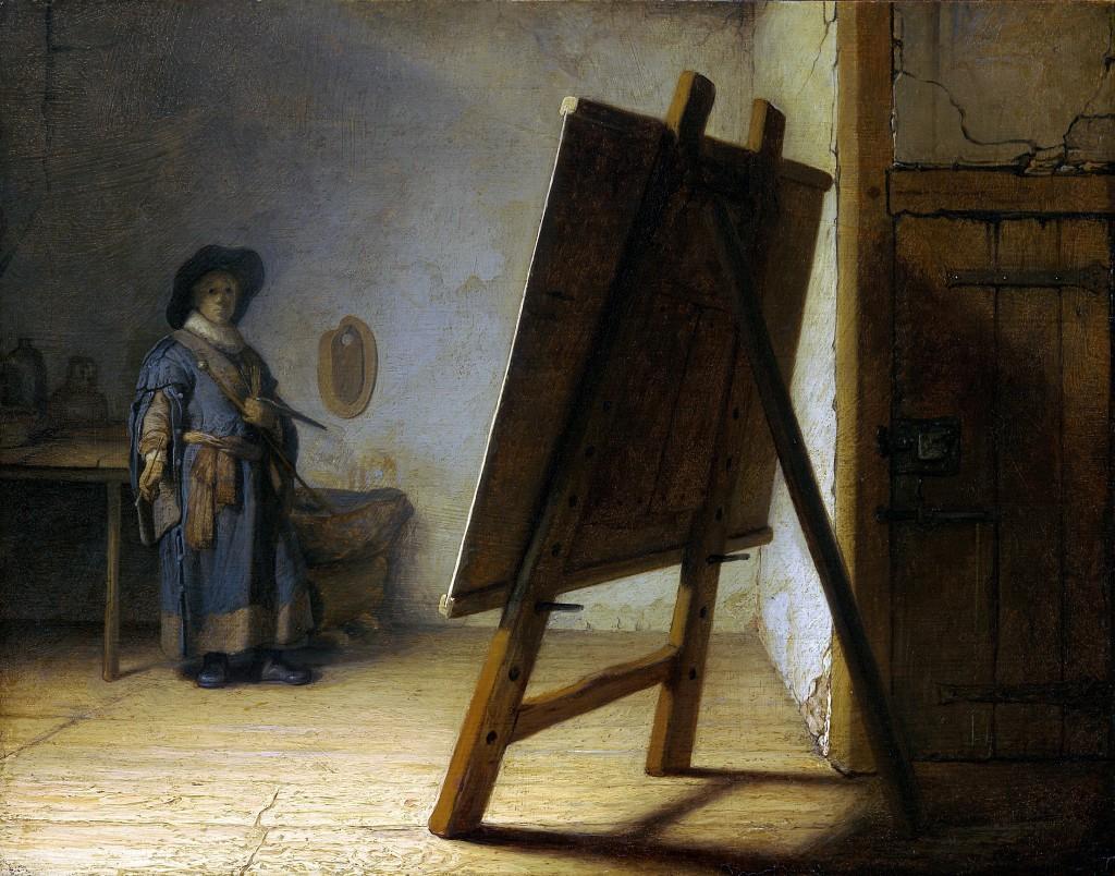 Rembrandt - The Artist In His Studio (1628)