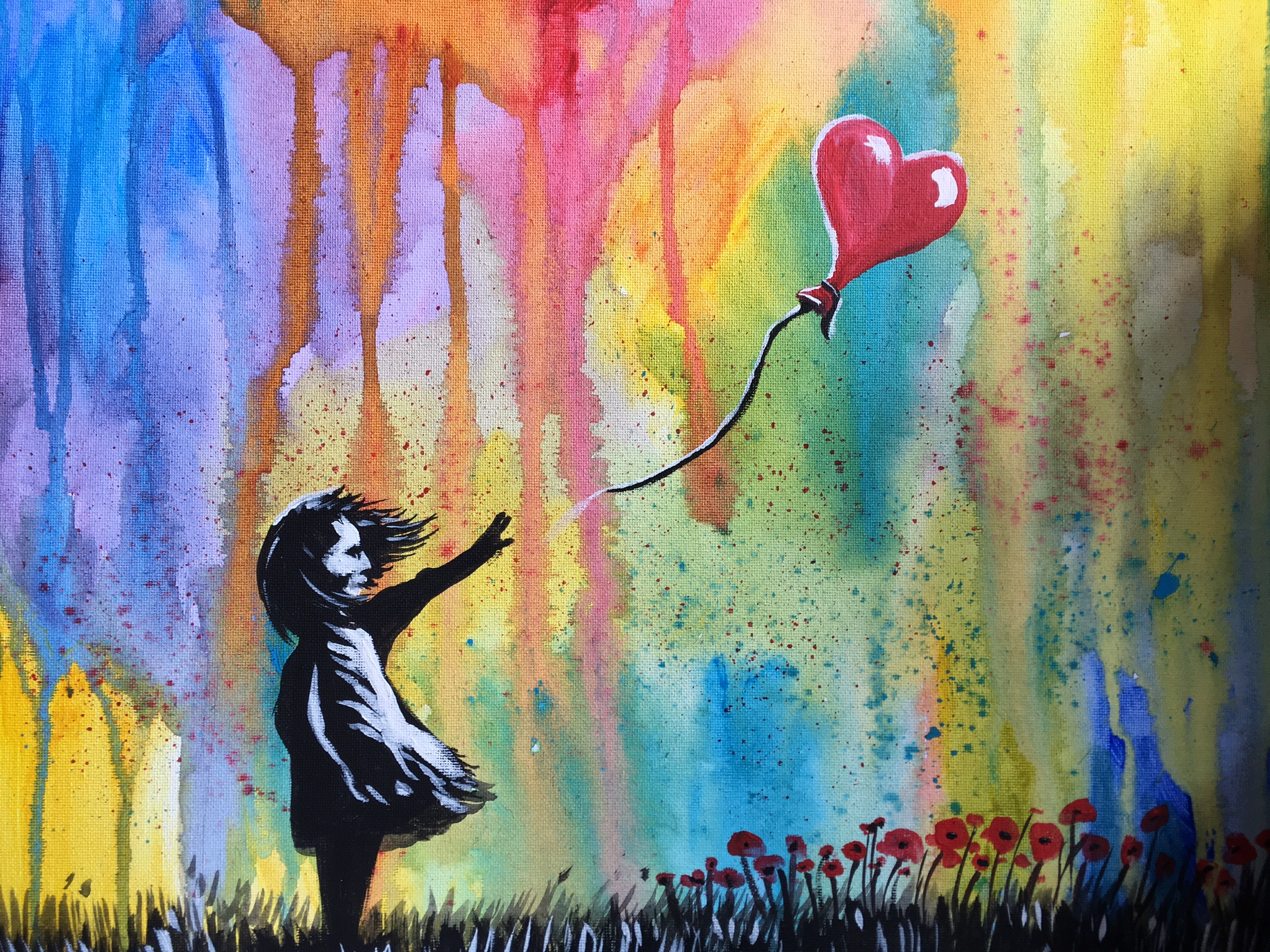 Jenny Leonard colourful Banksy