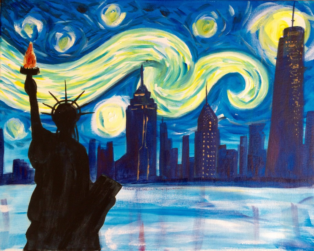 Almost Sold Out! Paint Starry Night over New York! 4 July ...