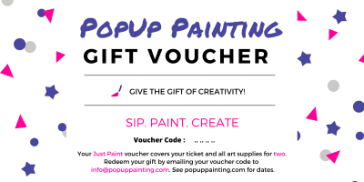 PopUp Painting Gift Voucher for two
