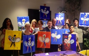 Group photo from Paint Marilyn Monroe, Urban Meadow