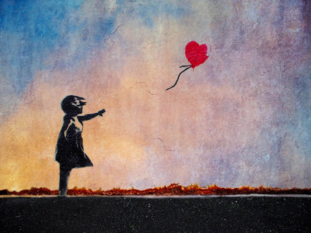 Banksy girl with balloon