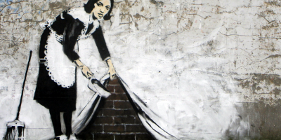 Paint like Banksy - Maid