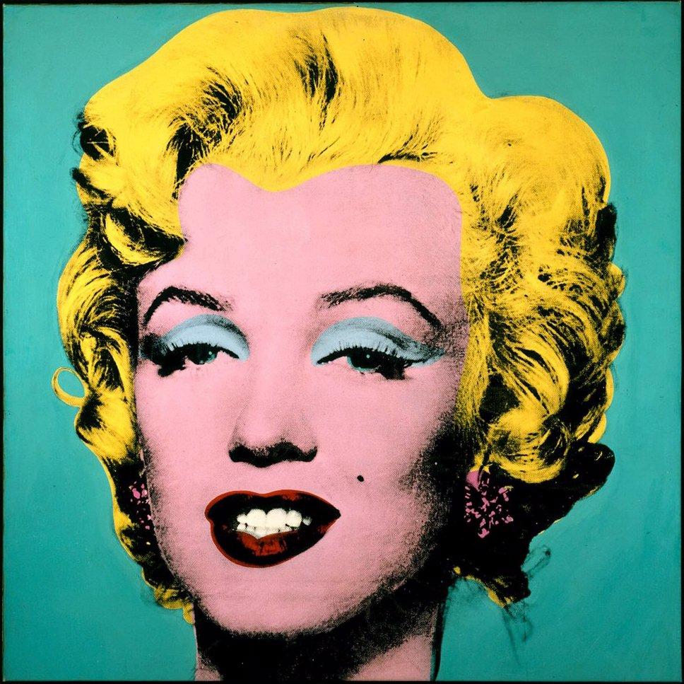 Marilyn Monroe in Blue by Andy Warhol
