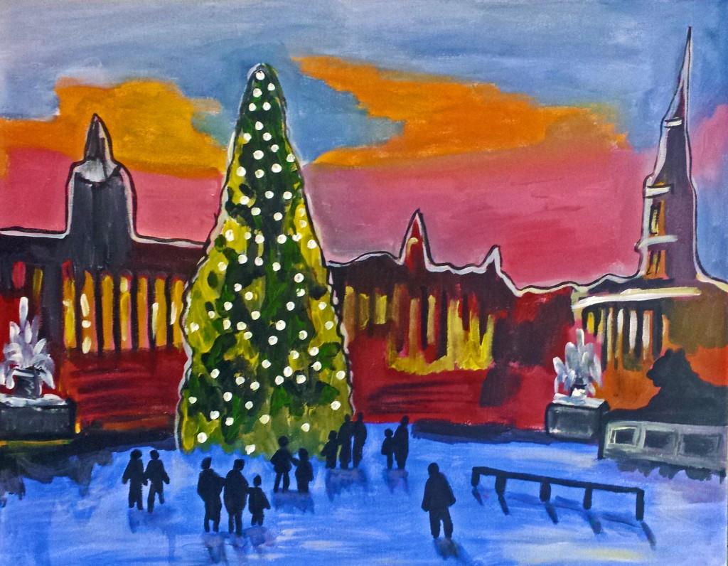 Paint London Christmas Special Trafalgar Square Popup