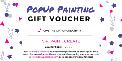 Painting and Prosecco Gift Voucher For Two