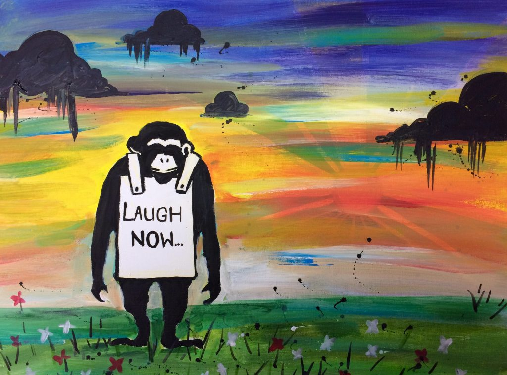 Sold out paint like banksy clapham tuesday 23 may for Banksy mural painted over
