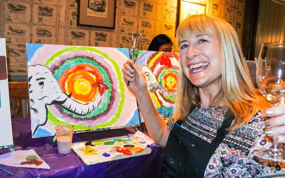 Popup Painting Painting And Wine Events Unleash Your Creativity