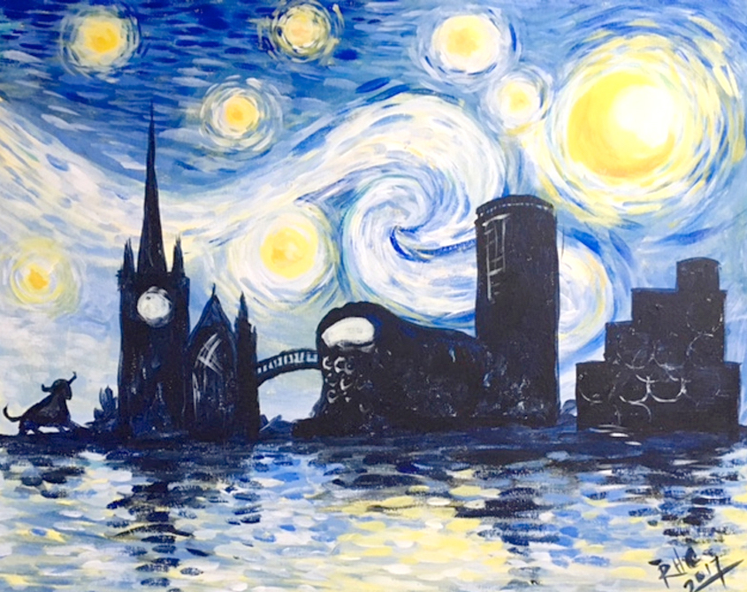 Paint Starry Night Over Birmingham With Prosecco Saturday 13 April