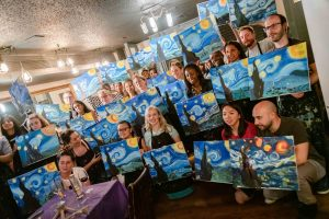 painting and wine event london party