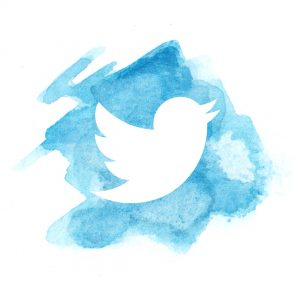 Watercolour PopUp Painting Twitter Logo