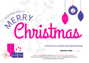 Christmas Just Paint Gift Voucher for One