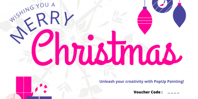 Christmas Just Paint Gift Voucher For Two