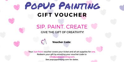 Valentine's Just Paint Gift Voucher