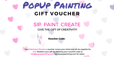 Valentine's Painting and Prosecco Voucher