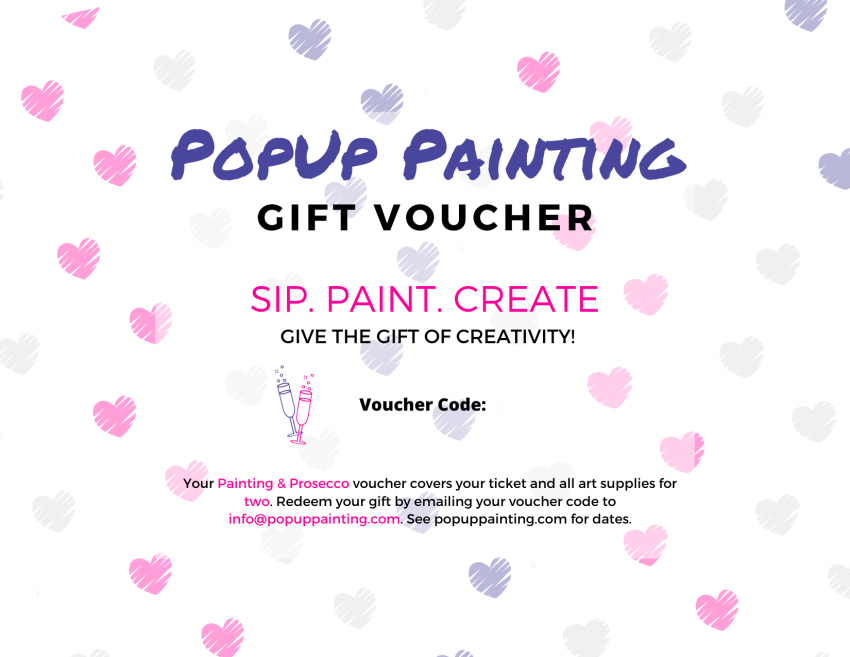 Valentine's Painting and Prosecco Voucher for two