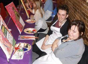 Phyllissa and Gareth at Paint Nite Boston